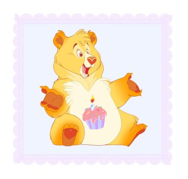 Birthday Bear by ThisCrispyKat