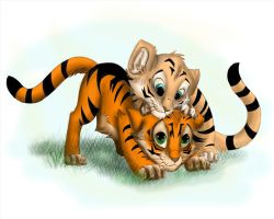 Two cute tigers by StephanieBF