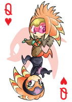 Queen of Hearts: Shade the Echidna by Kentami