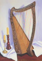 Folk Harp by The-Tinidril