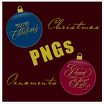 Christmas Ornaments PNG by frenzymcgee