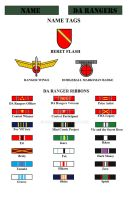 DA Ranger Badges/Ribbons by Ronin201