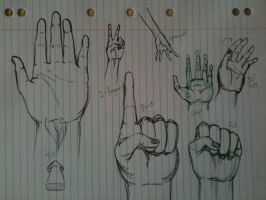 Hand sketches. by CeruleanHeavens