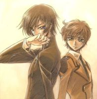 Lelouch and Suzaku by Alvin-The-Mercenary