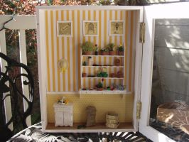 The Potting Shed: Bee Themed Gardener's Room by BeautifulEarthStudio