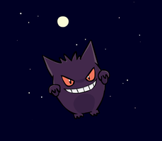 Gengar IN SPACE by sunnyfish