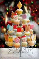 Cupcake Christmas tree by kupenska