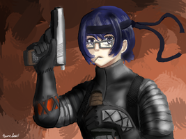 Shizune Stealth Suit by Nameless1992