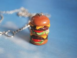 Cheeseburger Pendant by Madizzo