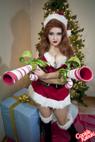 LoL: Candy Cane Miss Fortune VI by CookieKabuki