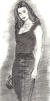 Cote De Pablo In Black by BURGE777