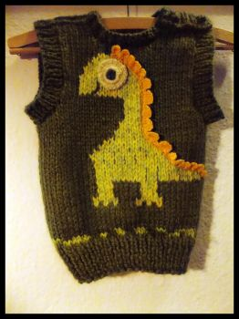 Dino kids pullover by Woolydesigns