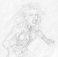 Black Canary shouting by SpiderGuile