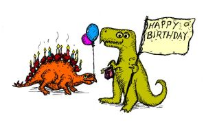 Birthday Dinosaur Card by billiambabble