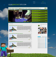 ULTIMATE Minecraft WEB Design [FOR SALE] by mconev