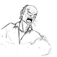 [Sketch] Angry Old Man by LiberiArcano