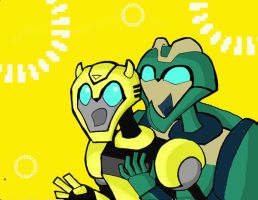 Bumblebee x wasp I do not hugs by arceeenergon