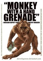 Monkey With A Hand Grenade Copy by jbeverlygreene
