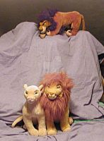 Simba Nala And Scar by toyjunkie1967