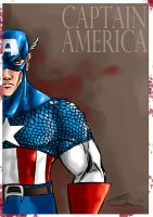 Captain America colored by cmico2