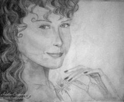 Woman with Flower by Adelia-Cooperwing
