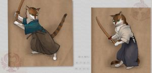 Kendo cats by Murash