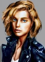 model sketch by ByunCaricature