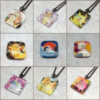 Pokemon Card Glass Tile Necklaces and Magnets by LeiliaClay