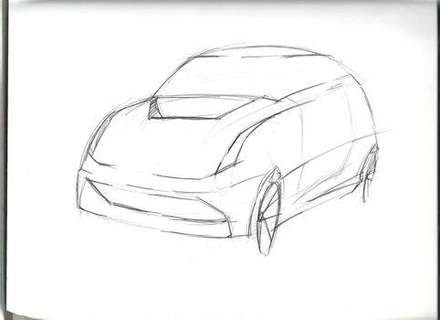 Small Hatchback Drawing by cjlashawn