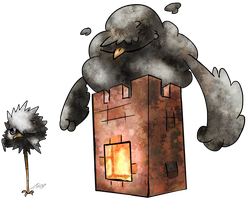 Chimney Swift Fakemon by T-Reqs