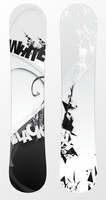 Snowboard Black and White by Jrcanest