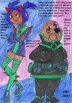 SG Sari and Isaac Sumdac: Unhappy Father's Day. by VectorMagnus2011