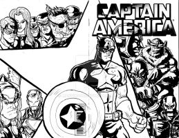 Captain America Sketch Cover by Marvin000
