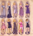 Rapunzel in 20th century fashion by BasakTinli