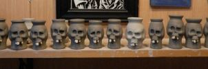 Skull shot glasses-WIP by thebigduluth