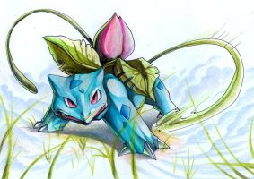 Ivysaur by DestroyedSteak