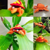 Parasect Pokemon Plushie! by gamerwhit