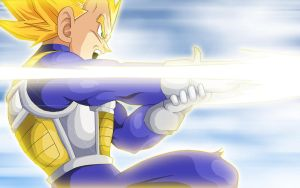 Vegeta Ki Barrage. :Motion: by moxie2D
