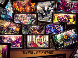 Tag wall Janvier Fevrier ! by Tulip-Creativ