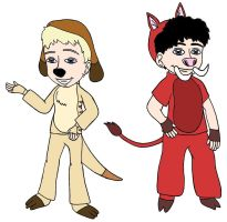 LK and OL as Timon and Pumbaa by Angel-Sweetheart