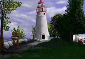 Marblehead Light, Lake Erie by davincipoppalag