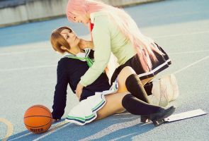 KnB: Riko and Momoi by Amapolchen