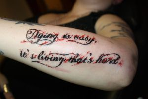 Dying is easy... by SimplyTattoo