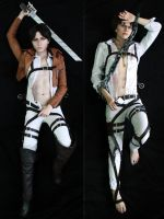 Cosplay dakimakura: Levi and Eren by pollypwnz