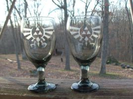 Loz Dark Tint Tea Glass by ZombieBunnySlaya