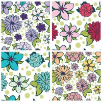 Flowers Pattern 3 by JuliaPainter