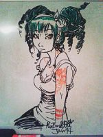 Another tattooed beauty on dry-erase by The-Gray-Areas