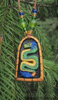 Quetzalcoatl custom colored pendant by metazoe