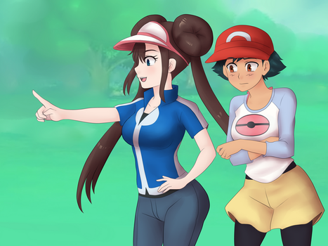 Ash X Rosa Costume swap by Rezuban