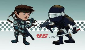 Snake vs Snake Eyes by jofsuarez